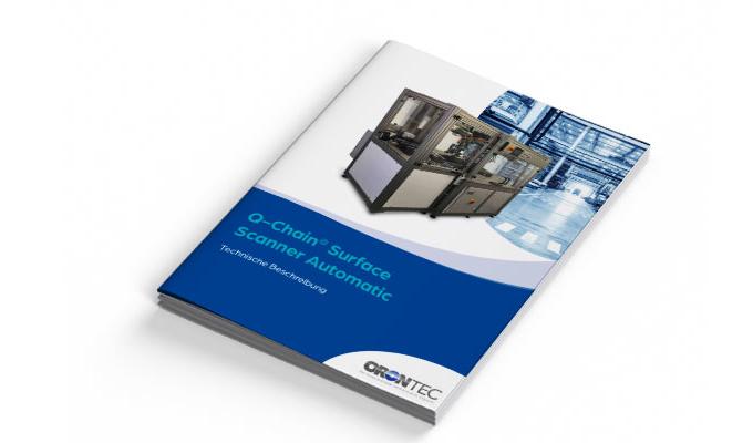 Orontec Broschüre für das Produkt Q-Chain Surface Scanner Automatic